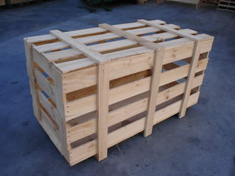 Crate Mounted On A Pallet
